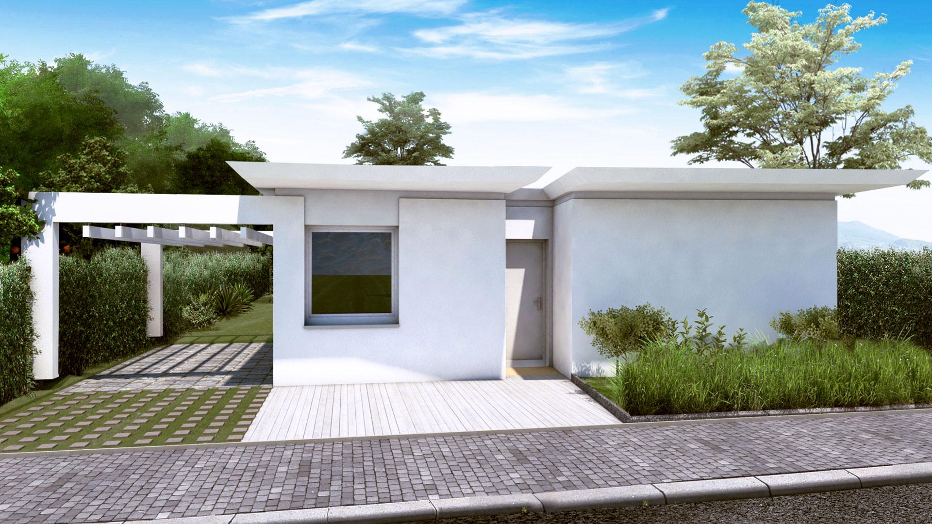 Haus Trapez Front